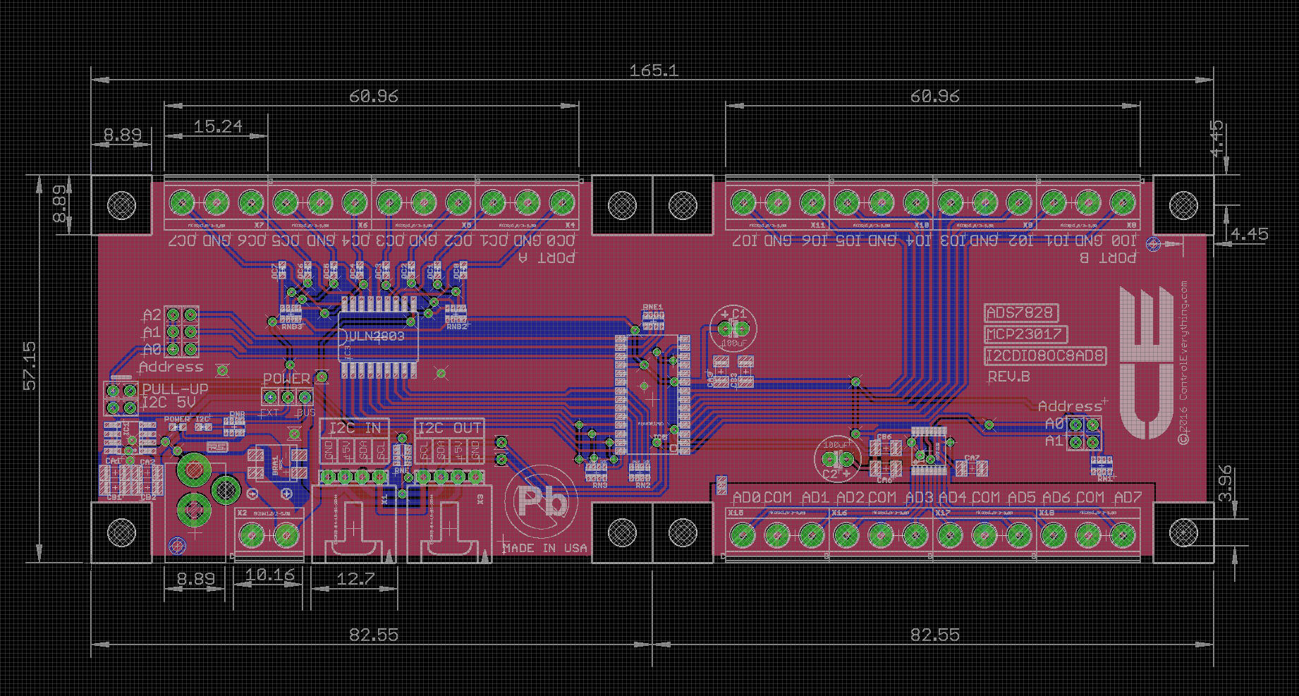 8-Channel ADC 12-Bit + 8-Channel Digital IO + 8-Channel Open Collector
