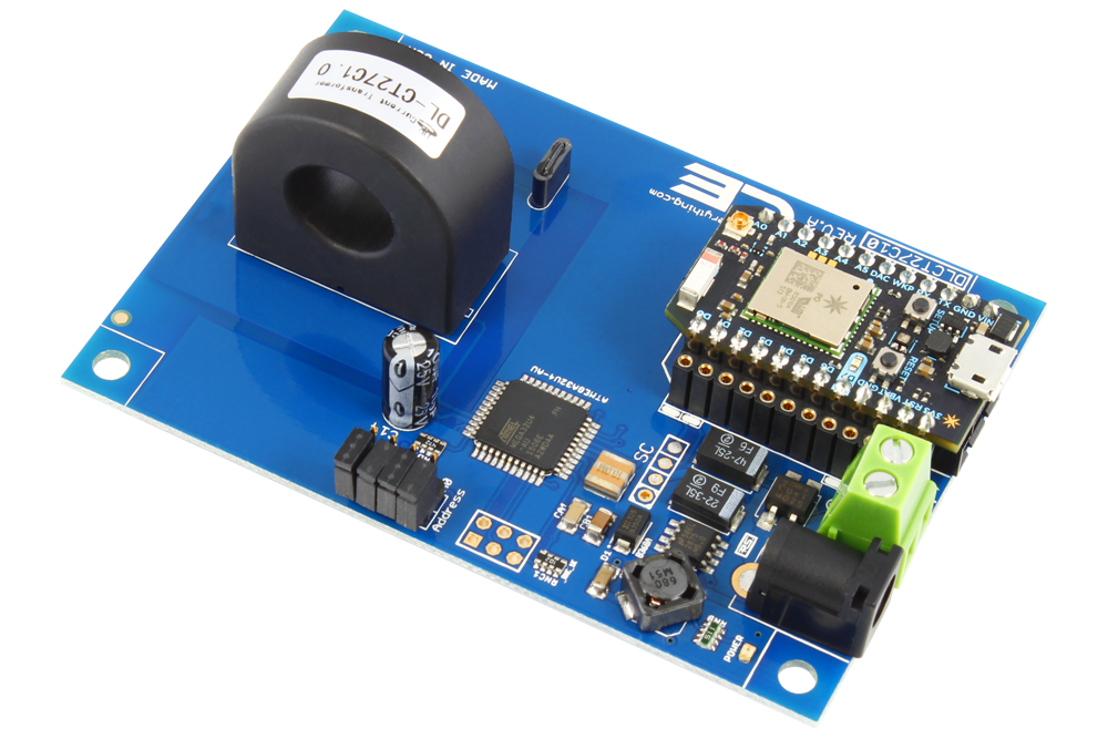 DLCT27C10 Current Monitoring Controller 1-Channel 50-Amp 97% Accuracy with WiFi Connectivity using Particle Photon