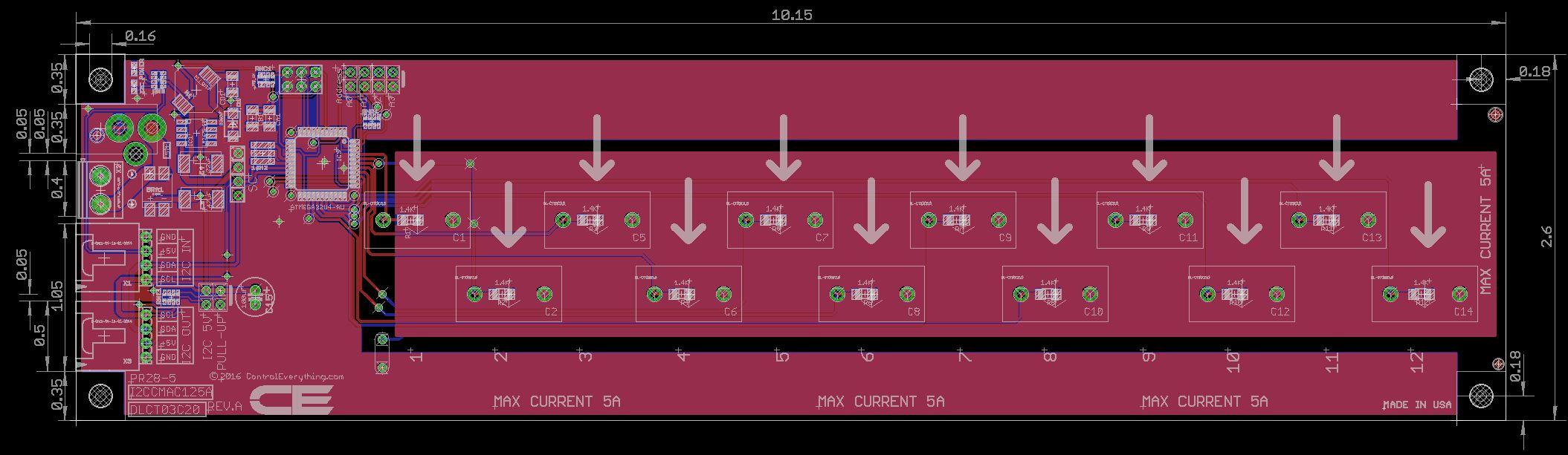 12 Channel On Board Ac Current Monitor For I2c C11 Pc Wiring Diagram