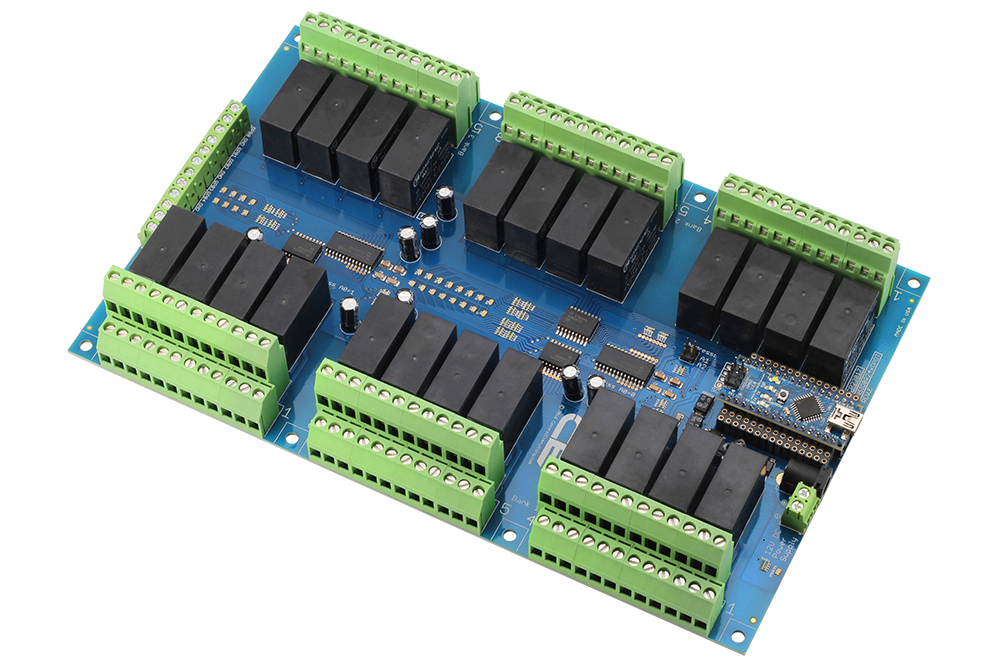Relay Shield for Arduino Nano I2C 24-Channel DPDT 5-Amp 8 Programmable Digital Input Output