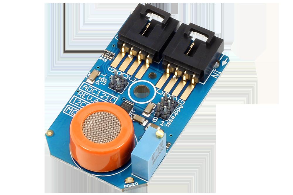 I2C Gas Sensor MQ-3 Alcohol ADC121C 12-Bit ADC I2C Mini Module