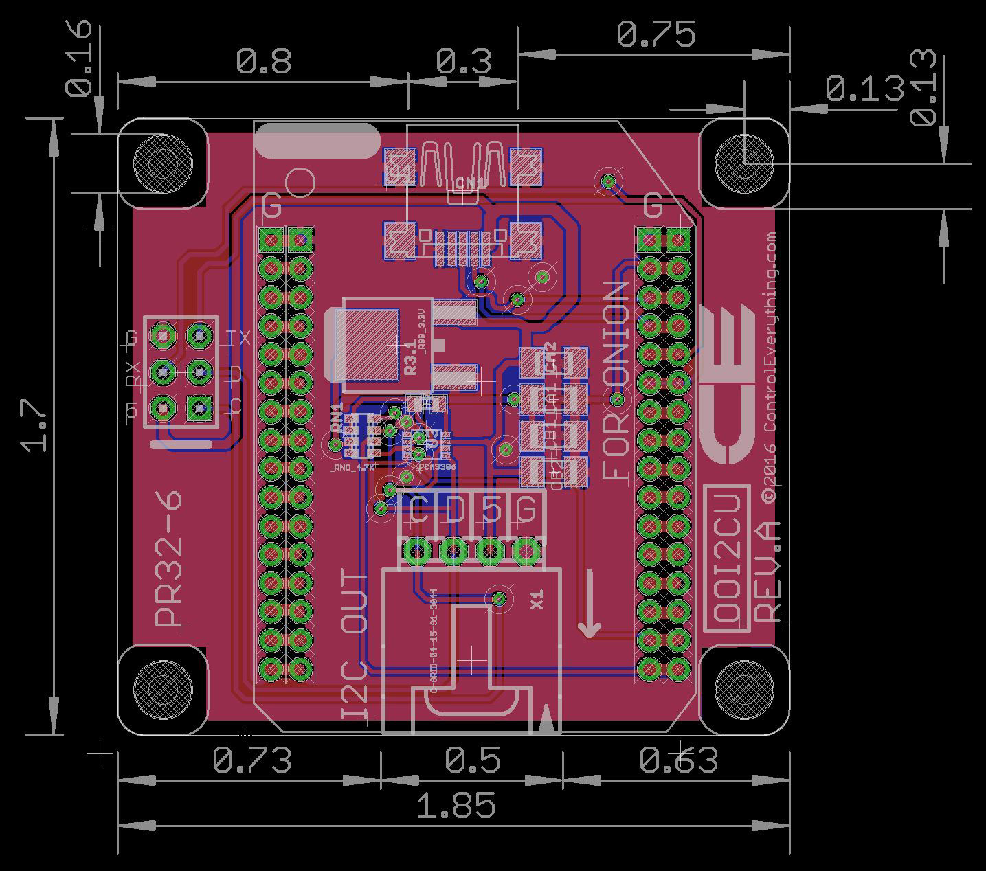 onion omega compatible i2c shield with rfid receiver and