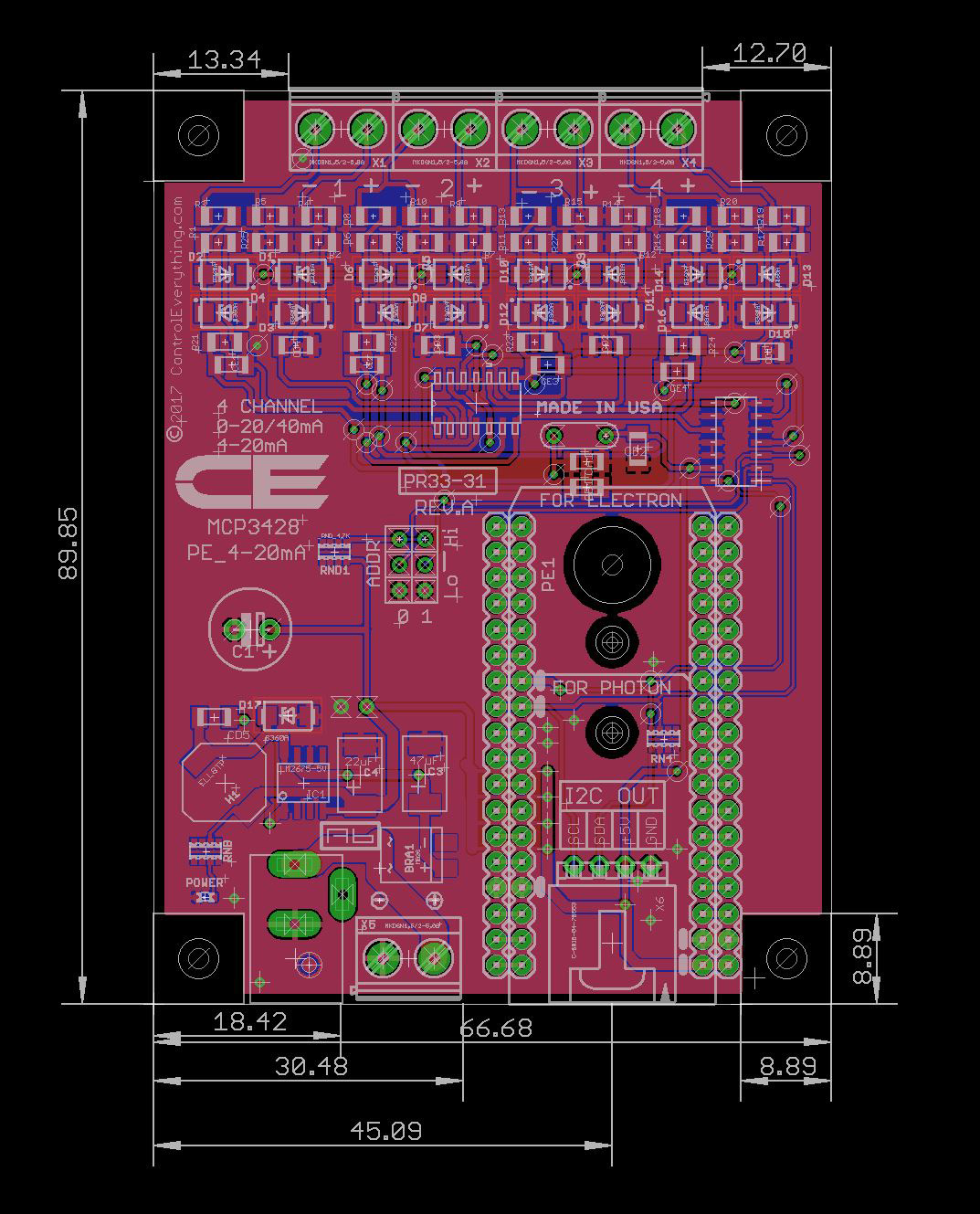 PE_4-20mA_4C_Mechanical_Drawing  Channel Video Switcher Wiring Diagram on residential wiring diagrams, audio wiring diagrams, sound diagrams, data diagrams, voice diagrams,