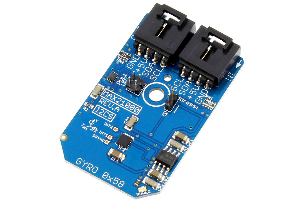 MAX21000 Ultra-Accurate Low-Power 3-Axis Digital Output Gyroscope I2C Mini Module