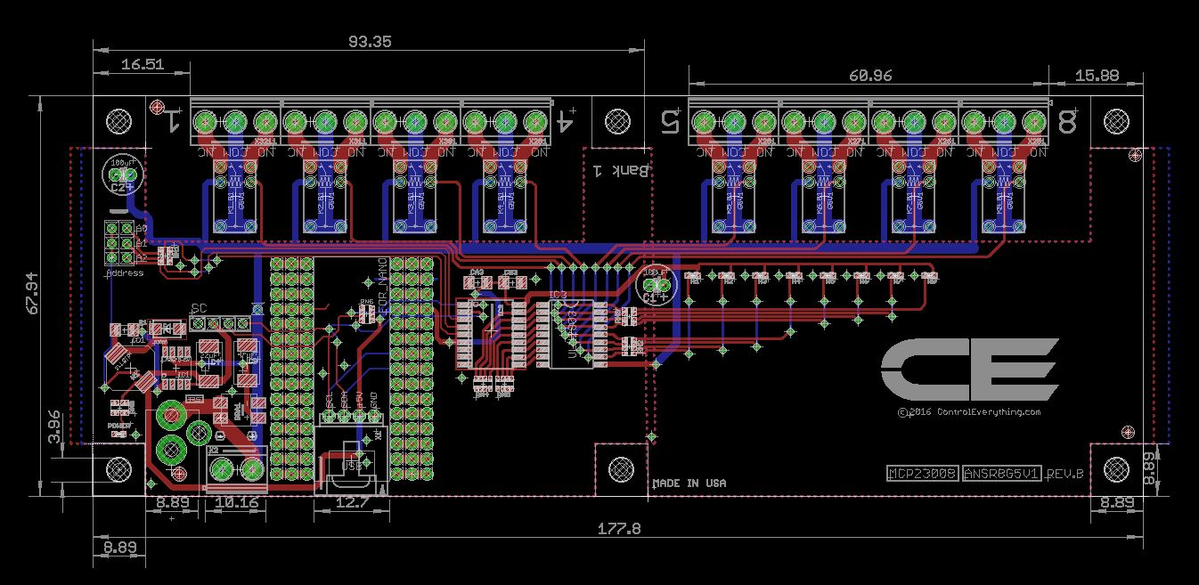 8 Channel Relay Controller For Arduino Nano Wiring Diagram
