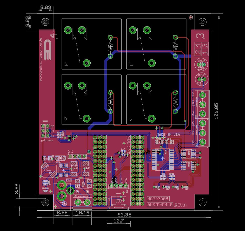 4 Channel Relay Controller For Arduino Nano Board Diagram Wiring