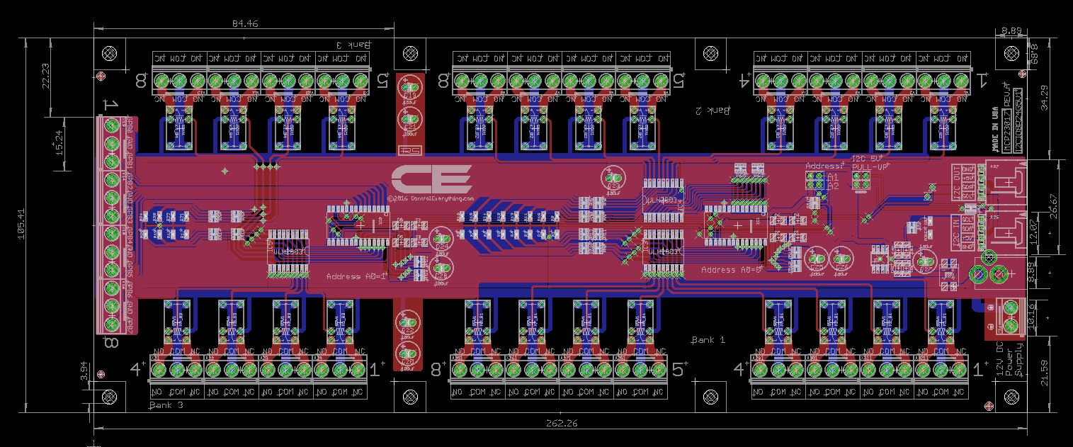 24Channel Relay Controller for I2C