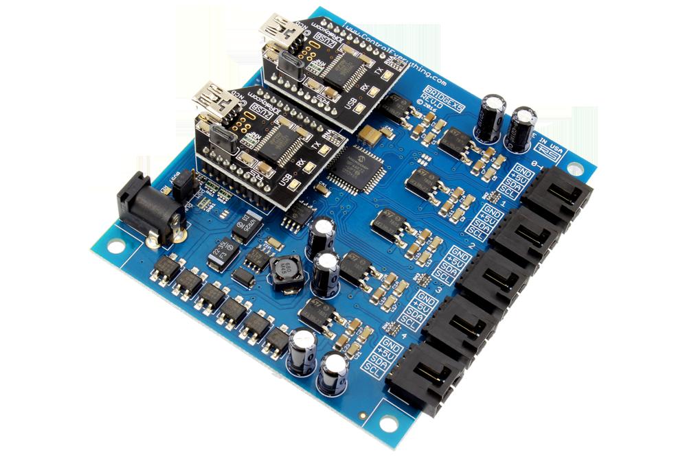 Dual USB to 5-Port I2C Bridge Adapter 100KHz for AnyI2C Software Windows Platform FTDI FT232RL