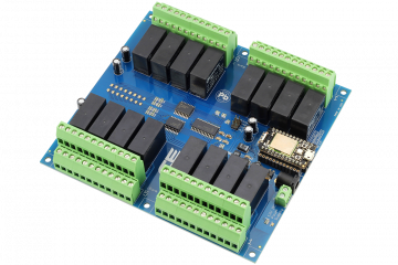 Relay Shield for Particle Photon I2C 16-Channel DPDT 5-Amp with WiFi and USB Interface