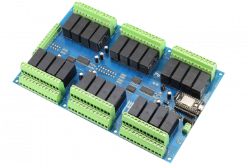 Relay Shield for Particle Photon I2C 24-Channel DPDT 5-Amp with WiFi and USB Interface + 8 Programmable GPIO