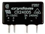 CRYDOM CX240D5 5A 240VAC ZERO-CROSS FOR RESISTIVE LOADS