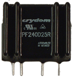 CRYDOM PF240D5R 25A 240VAC RANDOM FOR INDUCTIVE LOADS (Requires Forced Air Cooling)