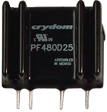 CRYDOM PF480D25 25A 480VAC ZERO-CROSS FOR RESISTIVE LOADS (Requires Forced Air Cooling)