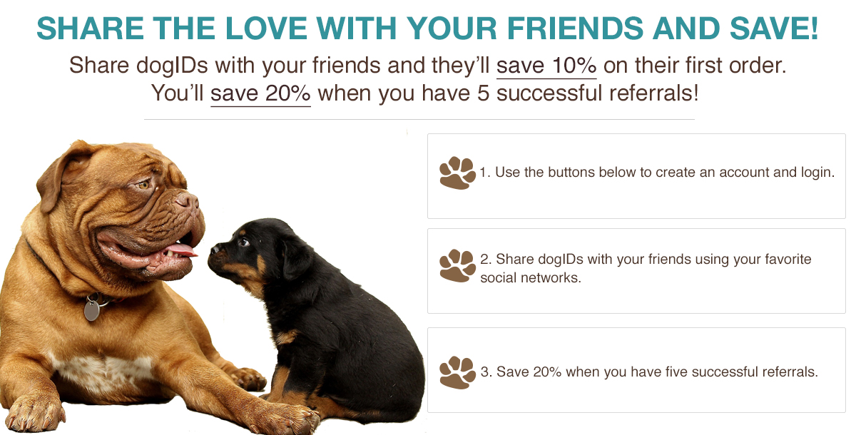 dogIDs Refer a Friend