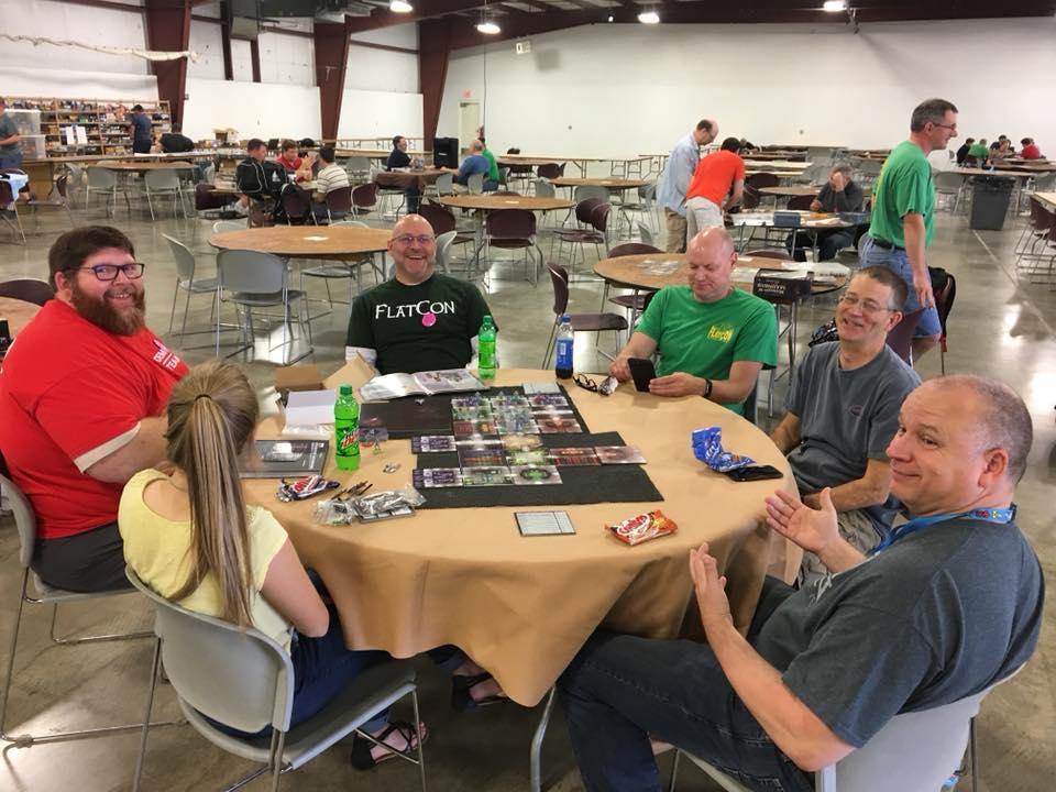 Some gamers enjoying the 17th FlatCon