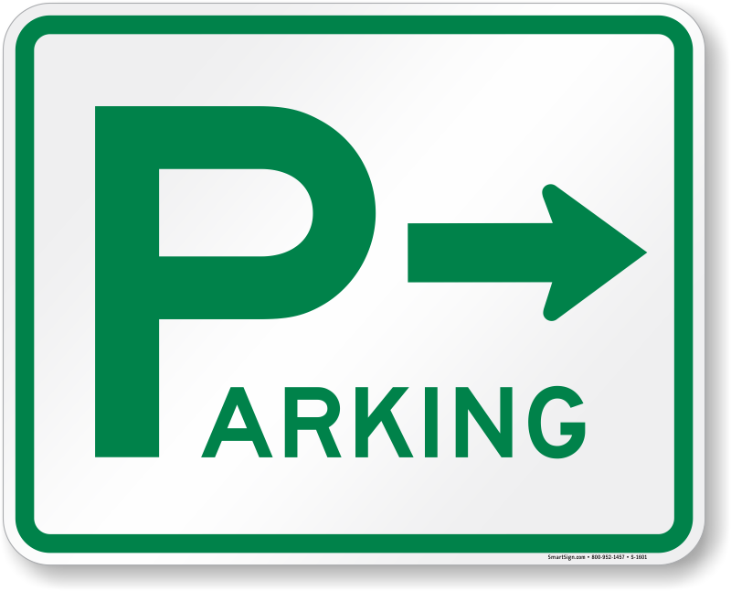right-arrow-aluminum-parking-sign-k-1601.png