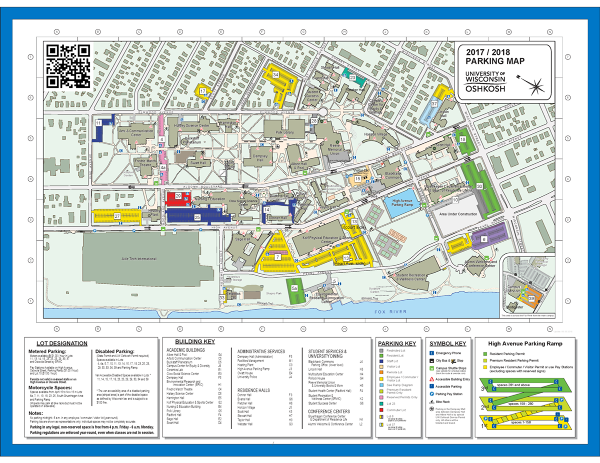 Uwo Parking Map Parking and Maps