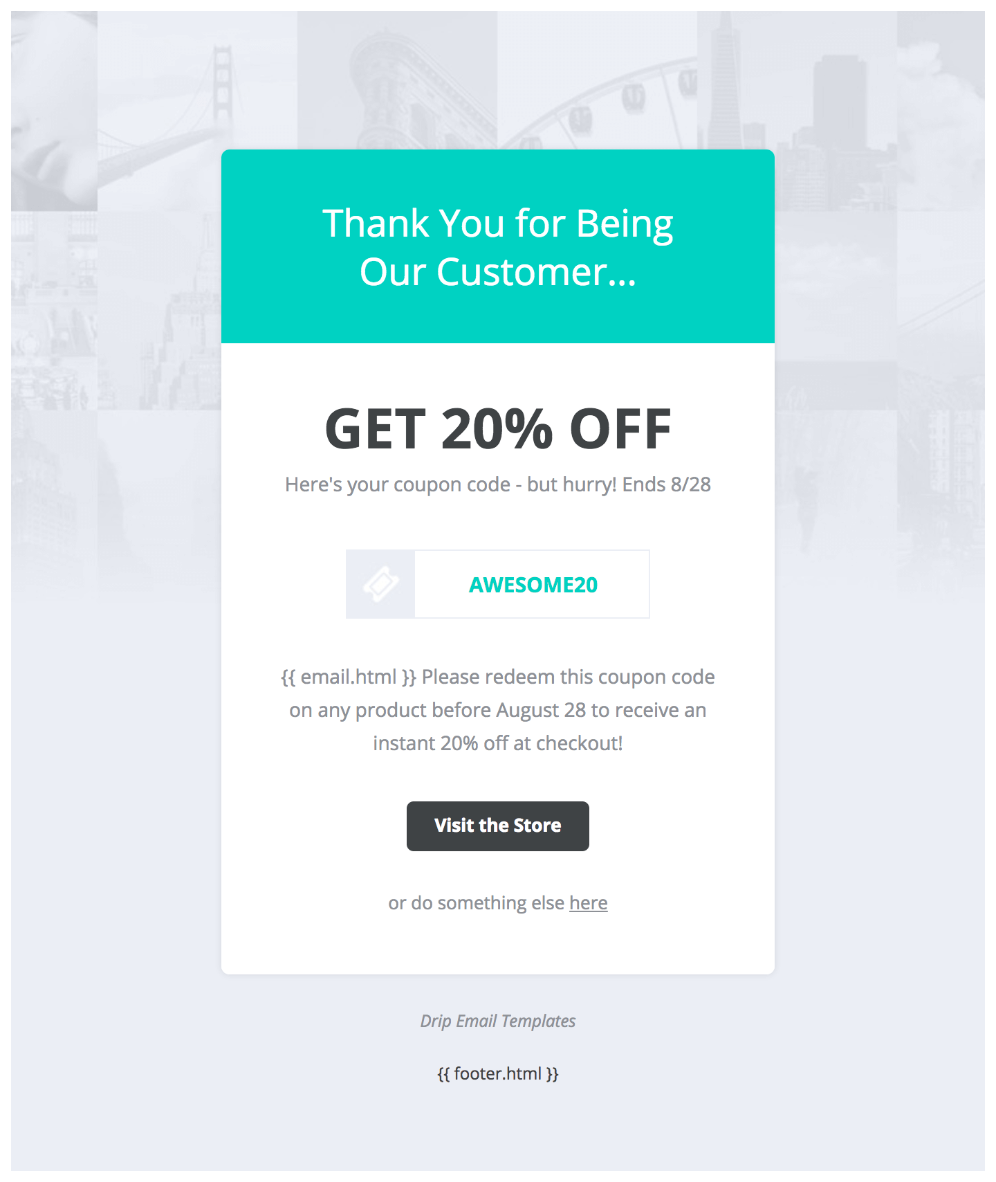 Drip email templates easy to import drip email templates enter your email to preview this template in your inbox fandeluxe Choice Image