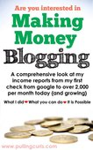 Blogging for income