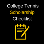 How to get a college tennis scholarship