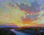 Landscape_water_reflection_and_sunset_print_-_oil_on_canvas_-_8x10_-_feb_2016_-_becky_joy