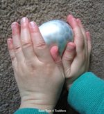 Fine motor skills with a water bead balloon 1