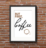 But first coffee small
