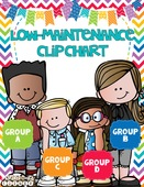 Low maintenace clip chart primary colored