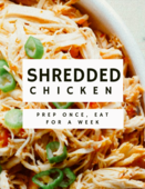 Shredded chicken cover