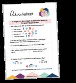 Social-media-worksheet