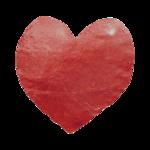 Jen kiaba red textured heart