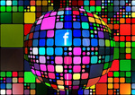 Facebook on color globe