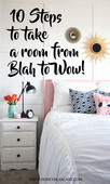 10 steps to take a room from blah to wow