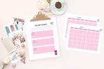 Editorial calendar and goal setting sheets