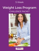 5 week weight loss program challenge packet final cover