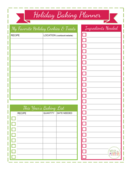 Christmas baking planner by weightomaintain