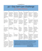 30 day self care challenge png