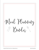 Meal planning binder title