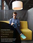 Image interview checklist