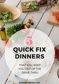 5 quick fix dinners