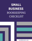 Small bookkeeping checklist image