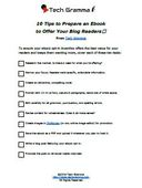 Ebook checklist th
