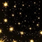 Bigstock gold light stars on black back 177888070