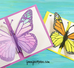 Pop up butterfly card sm