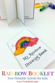 Printable rainbow booklet   teaching rainbow colors pin