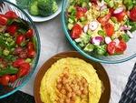 Hummus and salads min