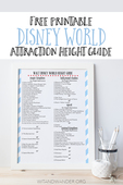 Walt disney world attraction height guide   wit   wander pinterest