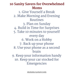 10 sanity savers for overwhelmed moms thumbnail
