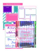 Vision board workbook preview