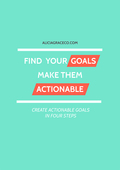 Set Actionable Goals - Workbook Cover